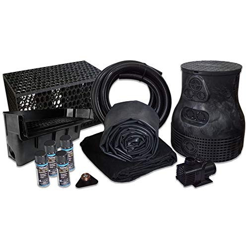 HALF OFF PONDS Savio Pond Free 6100 Waterfall Kit with MatrixBlox, 10' x 30' EPDM Liner and 6,100 GPH Pump - PLSB4
