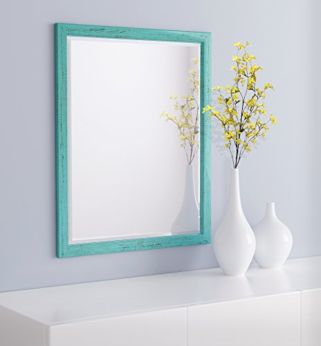 LND Reflections - Framed Beveled Mirror - 25'x31' or 27'x39' (25' x 31', French Teal)
