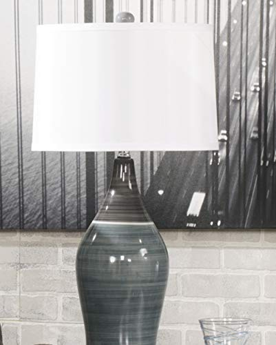 Signature Design by Ashley - Niobe Ceramic Table Lamp - Set of 2 - Multicolored/Gray