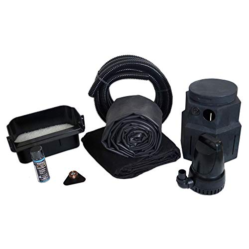 HALF OFF PONDS Complete 3300 Pond Free Waterfall Kit, with 10 ft by 15 ft EPDM Liner and 3,300 GPH Manta Series Submersible Pump - PSH4