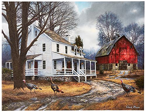 Cortesi Home 'The Way It Used to Be' by Chuck Pinson, Canvas Wall Art Prints, 26' x 34', Grey