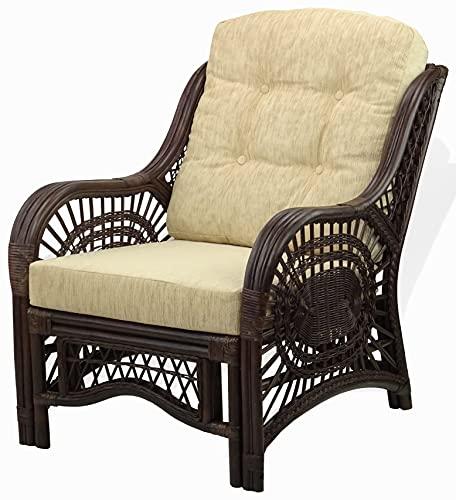 Malibu Lounge Armchair ECO Natural Rattan Wicker