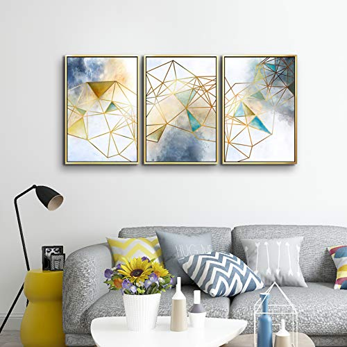 ARTLAND Modern 100% Hand Painted Flower Oil Painting on Canvas Orange Plum Blossom 3-Piece Gallery-Wrapped Framed Wall Art Ready to Hang for Living Room for Wall Decor Home Decoration 36x72inches