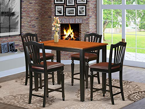 5 PC Dining counter height set-pub Table and 4 counter height Dining chair