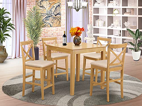 5 Pc Counter height Table-counter height Table and 4 Kitchen counter Chairs