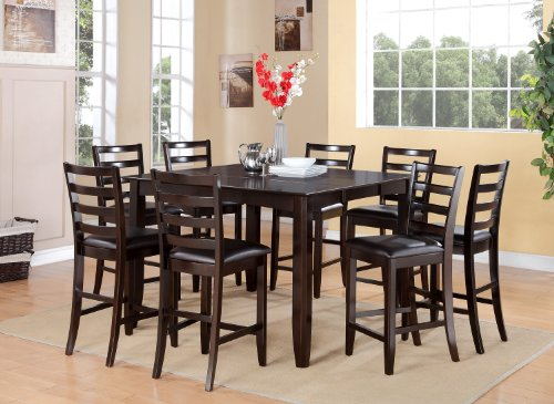 7 Pc pub Table set- Table and 6 Kitchen counter Chairs