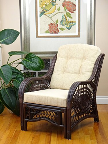 Malibu Lounge Armchair ECO Natural Rattan Wicker