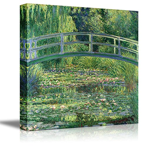 The Water Lily Pond by Claude Monet Giclee Canvas Prints Wrapped Gallery Wall Art | Stretched and Framed Ready to Hang - 24' x 24'
