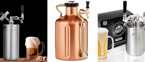 Portable Pressurized Growler Mini Keg 64oz